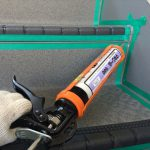 長尺シート(防滑性ビニル床シート)をハイツの廊下・階段に施工|大阪